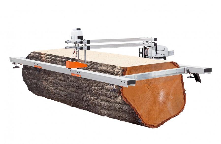 """Big Mill z pakietem szyn prowadzących, do prowadnic 66"""" (167 cm) (w zestawie prowadnica i łańcuch)"""