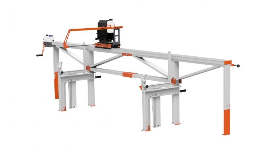 Trak F2 (4 m) z pilarką elektryczna ES5, manualny zdalny posuw