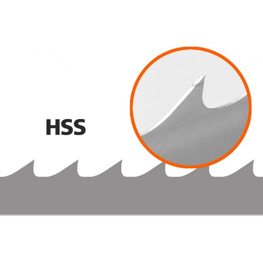 5 Brzeszczotów (HSS/Bimetal) do traka B751, L: 3843 mm, W:34 mm