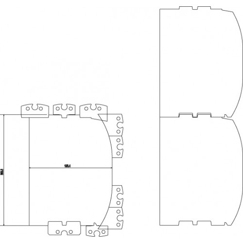 """Zestaw noży do LM410, 6""""-8"""" (150-200 mm), D-Log, z uchwytami"""