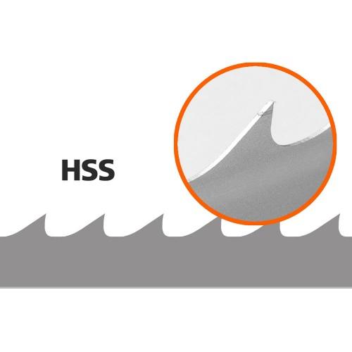 5 Brzeszczotów (HSS) do traka B751, L: 3843 mm, W:34 mm